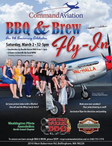 Command Aviation BBQ &amp; Brew Fly-in. March 4th, 2013 from 1 - 5 pm.