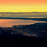 Scenic Flight Tour of Bellingham during sunset.