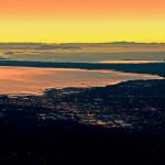 Scenic Flight Tour of Bellingham during sunset.
